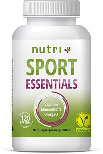 SPORT ESSENTIALS - A-Z Compleet voor sporters - 17 Vitaminen Mineralen Aminozuren Antioxidanten - 120 vegetarische capsules - Dagelijkse Vitaminen Fitness - Gemaakt in Duitsland