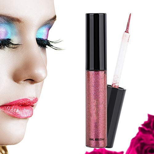 Glitter Liquid Eyeliner, Waterproof Long Lasting Shimmer Diamond Eye Shadow (9#)