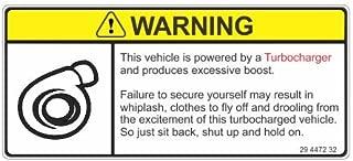 turbo warning sticker