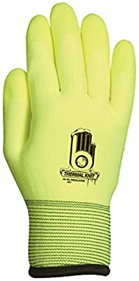 Bellingham High-Visibility Insulated Thermal Knit Work Glove, HPT PVC Water Repellent Palm
