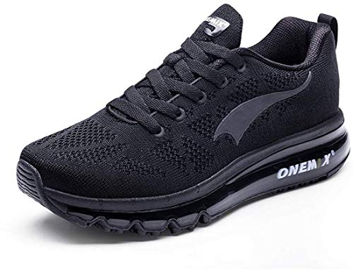 ONEMIX Herren Air Laufschuhe für Herren Straßenlaufschuhe Turnschuhe Sportschuhe Schwarz 45 EU 1118SMH