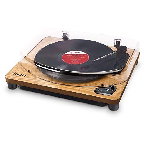 ION Audio レコードプレーヤー Bluetooth USB へッドホン端子 レコードの音をUSB接続でPCに録音可能 アイオン Air LP 木目