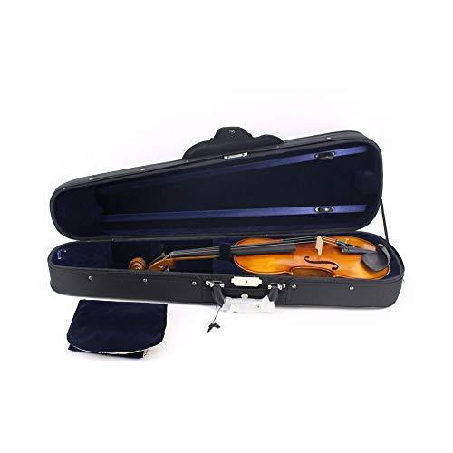 Vioolse hoes in volle grootte, driehoekige vorm, draagbare viool-harde koffer met handgreepbooghouder, ritssluiting, rugzakriem, Oxford-weefsel, lichtgewicht professionele viool-draagtas