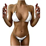 Mujeres Sexy Halter Bikini Establece Dos Piezas triángulo de Vendaje Push Up Bikini Traje de baño