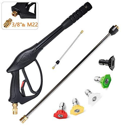 BQT 7-in-1 hogedrukreiniger-spuitpistool met 22-inch vervangingsmond, 5 sproeikoppunten voor karcher, Honda Excell Troybilt, Simpson, hogedrukreiniger