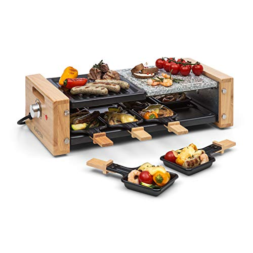 Klarstein Chateaubriand Nuovo Raclette con Piedra Natural - Barbacoa Raclette, Parrilla, 1200...