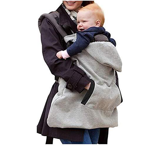 iSpchen Baby Regencover Tragecover Carrier Cover,Regenschutz für Babytragen,Dick Baby Sling Wintercover,Grey EINWEG