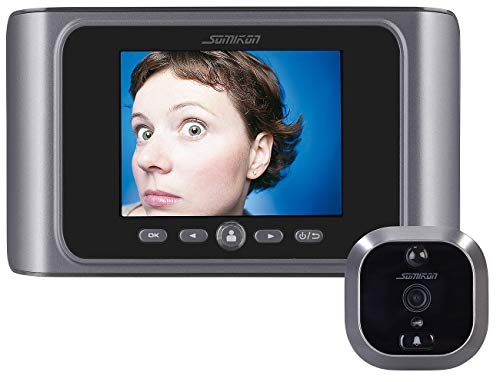 Somikon Elektronischer Türspion: Digitale Türspion-Kamera mit Bewegungserkennung und Akku (Spion)