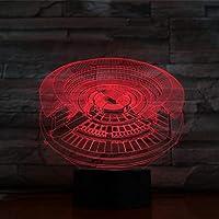 3Dライトカルチャーラウンドハウスバッテリー式リモコンカラーチェンジLEDナイトライト(子供用)