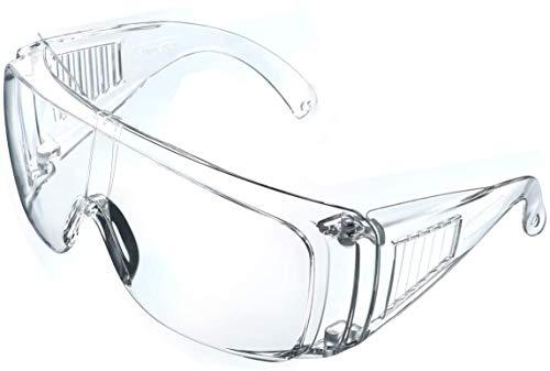 ASEOK Gafas de seguridad,Cubregafas Protectoras,Lentes de Seguridad antivaho,para Laboratorio, Agricultura, Industria ✅