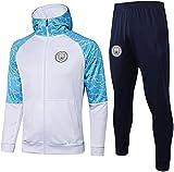 KMILE Juego de camisetas de fútbol para regalo oficial de fútbol con capucha para entrenamiento de fútbol, chaqueta larga, uniforme profesional, color blanco de manga larga (color: blanco, talla: S)