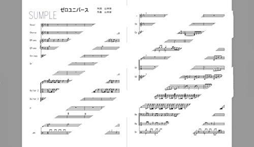楽譜[あのコの夢を見たんです。] ゼロ ユニバース [山本彩][バンドスコア]