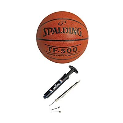 Spalding TF-500 Performance Composite Basketball (29.5-Inch) with Maintenance Kit Bundle (2 Items)