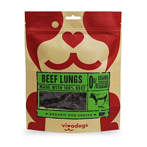 Vivadogs - 100{4eb9cfd4680375c21d6655a277c1d5a838e981e1645197dbe28edc582b65e10b} Carne de Ternera Natural Secado al Aire (pulmones) - 100g