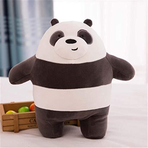 YGDH Nos Kawaii Regalo De Cumpleaños De Dibujos Animados del Amor del Juguete del Oso De Peluche del Grisáceo Gris White Bear Panda Muñeca Niños Bare Osos De Felpa (Color : Panda 25cm)
