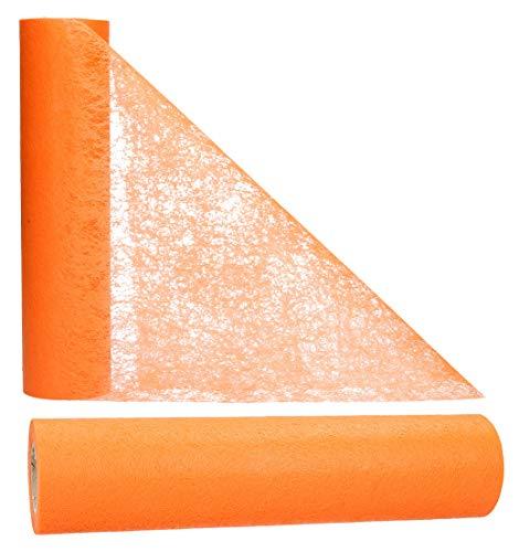 AmaCasa Vlies Tischläufer 30cm/25 Meter Tischband Hochzeit Kommunion (30cm, Orange)