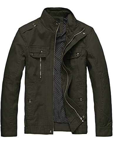 Wantdo Men's Cotton Lightweight Jacket Military Jacket Casual Field Coat...