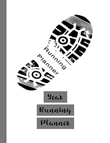 Year running planner: Runner planner diary for all your training logs - Trainer footprint