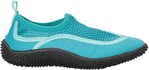 Mountain Warehouse Zapatillas de Agua Bermuda niños - Zapatos Playa de Neopreno, Forro de Malla, Zapatos de Agua Ligeros, fáciles de Poner - Verano, Playa, Buceo Verde Agua 30.5