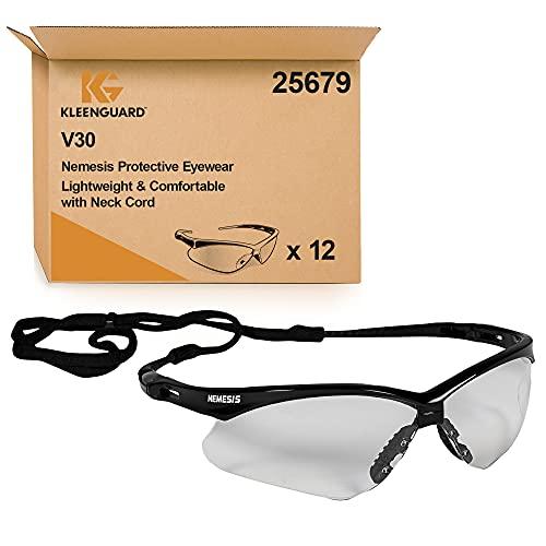 KleenGuard V30 Nemesis VL Gafas de protección antiempañamiento 25679, 12 x gafas universales con lentes transparentes por paquete 🔥