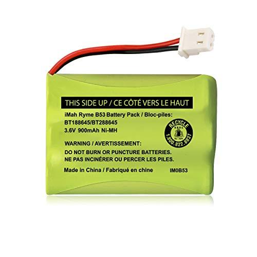 iMah BT188645/BT288645 3.6V 900mAh Ni-MH Battery Pack, Also Compatible with VTech BT207695 VM312 VM3251 VM3252 VM3261 Digital Video Baby Monitor