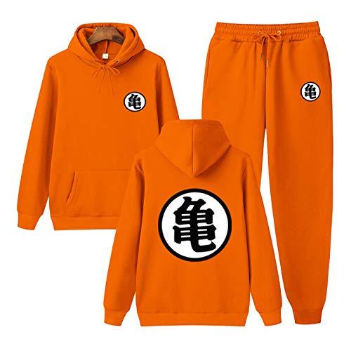 NIGHTMARE Son-Goku Langärmeliger Goku-Trainingsanzug Für Herren Und Damen Goku Hoodie Kleidung für Mädchen Jungen Outfit Mode Jogginganzüge L