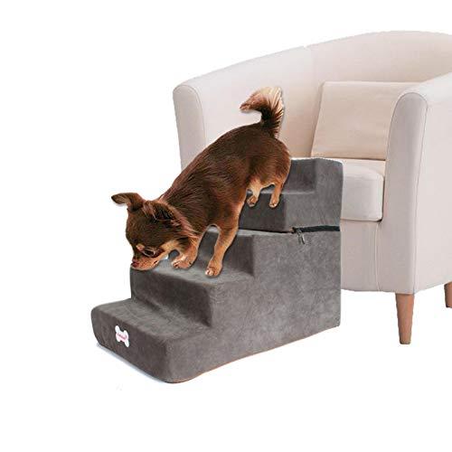 Escaleras Para Perros Escalera, Escalera Para Sofá Cama Extraíble, Escaleras Para Mascotas Con 5 Peldaños Para Perros Gatos, Escaleras Lavables Para Mascotas Escalera De Paso Para Uso En Interiores ✅