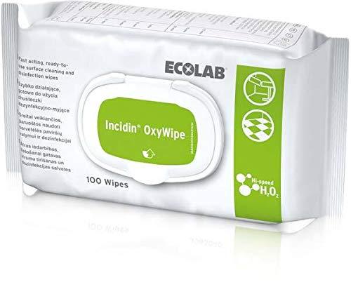 Incidin Oxywipe Desinfektionstücher 100 Stück - Flächendesinfektion, gebrauchsfertig, Spenderpackung
