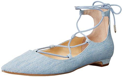 Ivanka Trump Women's Tropica6 Ballet Flat, Blue Denim, 6 M US