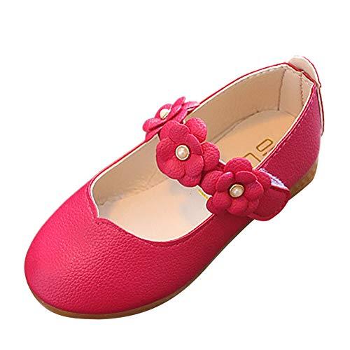 Delleu Niños Zapatos Bebé Flor Mary Janes Escuela Fiesta de Bodas niños...
