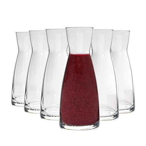Bormioli Rocco Ypsilon - Wasserkaraffe aus Glas - 1080 ml - 6 Stück