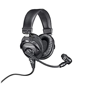Audio-Technica BPHS1 Broadcast Stereo Headset with Dynamic Cardioid Boom Mic  Renewed
