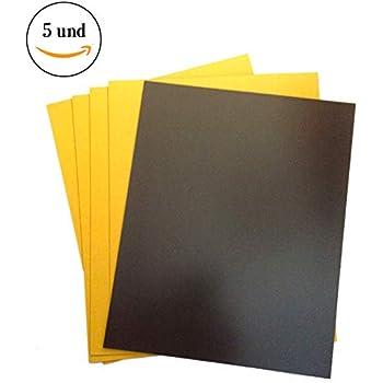 Lámina magnética autoadhesiva 1,5mm x 62cm x 50cm - puedes adherir otros materiales como por ejemplo fotografías, cartulina, papel, y todo lo que te brinde tu imaginación.: Amazon.es: Hogar