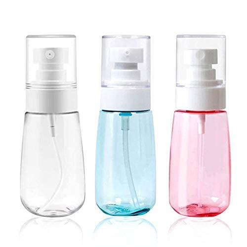 SLUDFH 3 Stück Sonnenschutz Sprühflasche Tragbare Reiseflaschen Set Flaschen Leere Durchsichtigen Kunststoff Feinnebel Sprühflaschen Make-up Wasserzerstäuber Leere Kosmetik Nachfüllbehälter, 60 ml