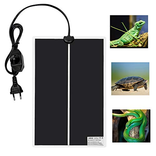 Pista de calefacción por mascotas Reptil cojín de calefacción del acuario Heat Mat tortuga del lagarto Escalada mascotas cálido con temperatura ajustable Controller Hábitat de reptiles y anfibios