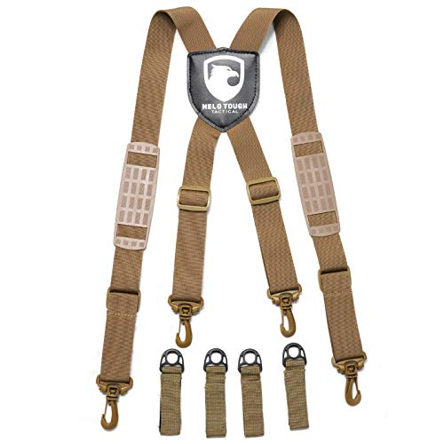 Police duty belt suspenders Tactical suspenders tactical harness suspenders Khaki Color Nylon Webbing (oval)
