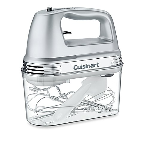 Cuisinart 7-Speed Electric Hand Mixer in Brushed Chrome with Storage Case