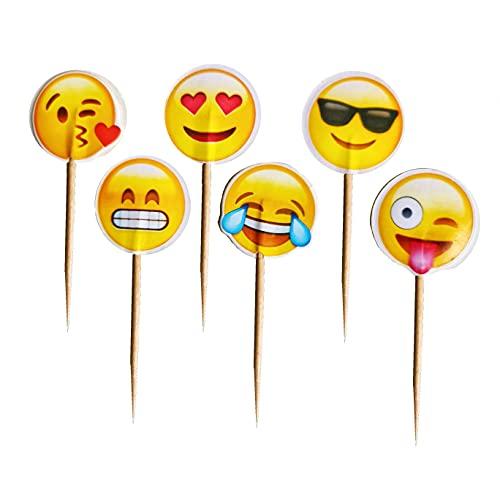 Emoji - Decoración para tarta de cumpleaños, cumpleaños o aniversario, diseño de emoticono, cumpleaños o cumpleaños