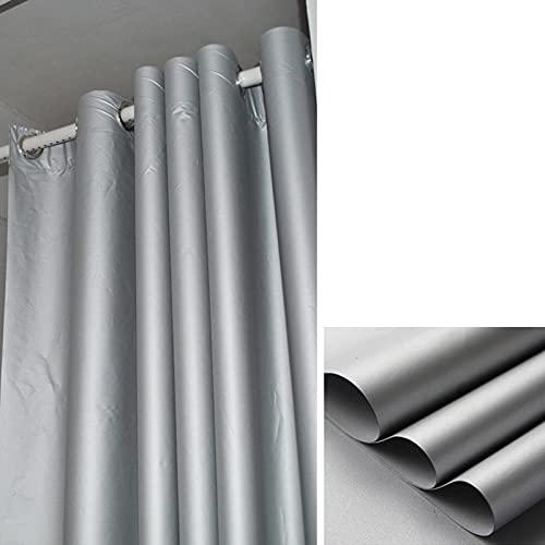 GDMING 100 % mörkläggningsgardiner, svart och silver reflekterande vattentät sommar isoleringsduk för inomhus och utomhus genomföringar topp, 17 storlekar (färg: Silver, storlek: 1,9 x 2,5 m)
