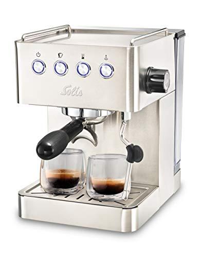 Solis Barista Gran Gusto 1014 Kaffeemaschine - Espressomaschine mit Dampf- und Heißwasserfunktion - 1.7L Wassertank - Edelstahl