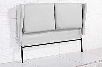 Cabecero tapizado con cojín. Estructura metálica. Orejero. Medidas: 171 x 118 cm. NO ENTREGA A ISLAS CANARIAS, CEUTA Y MELILLA