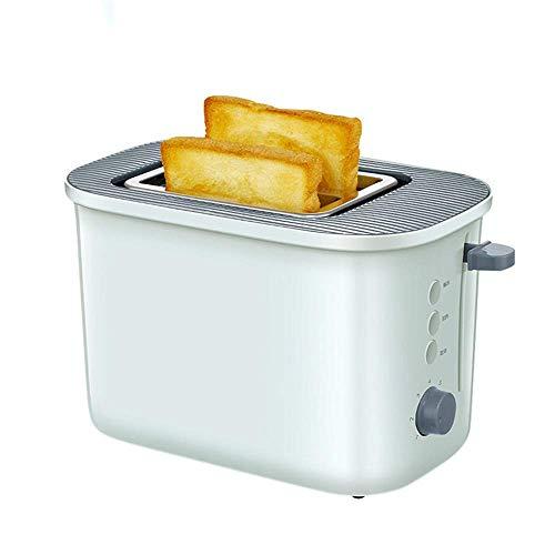 L&WB Mini Grille-Pain 2 tranches, Automatique Maison Grille-Pain Petit déjeuner avec Couvercle Anti-poussière
