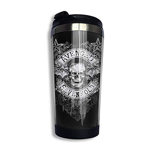 Avenged Sevenfold Taza de viaje de doble pared de acero inoxidable Vaso Taza de café aislada a granel