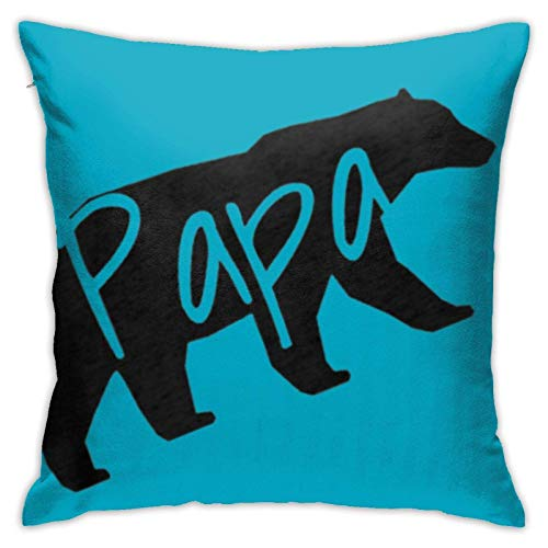 XCNGG Kissenbezug Papa Bear Dad Plush Fabric Fashion Square Pillowcase Cushion Cover Sofa Pillowcase 18in18in