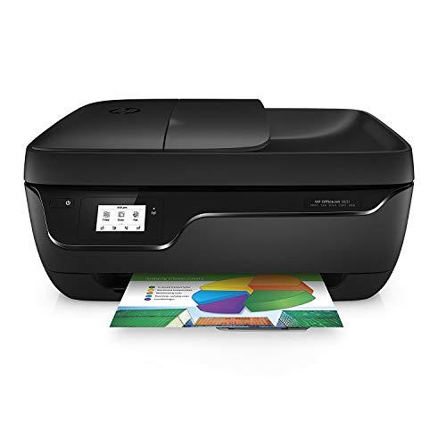 HP OfficeJet 3831, Stampante Multifunzione a Getto di Inchiostro, Stampa, Scannerizza, Fotocopia, Fax, Wi-Fi Direct, 2 Mesi di Servizio Instant Ink Inclusi, Nero