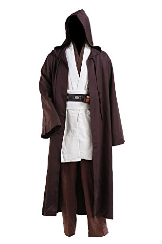Kostor Obi Wan Kenobi Cospaly Kostüm Tunika Herren Mantel Weiß XL