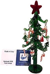 Navidad árbol de cristal Murano estrellas inastillables adornos regalo muñeco de nieve