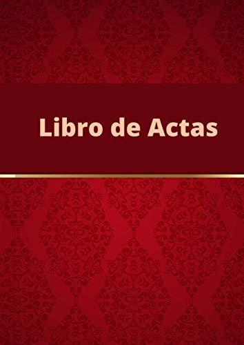 Libro de Actas: Registro de Actas. Tamaño A4.