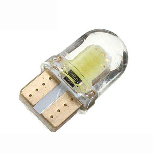 WOVELOT 10pc LED T10 W5W COB SMD CANBUS l'eclairage Blanc Brillant de Plaque de silice