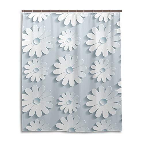 JSTEL Decor Rideau de Douche à Motifs Abstraits 3D 100% Polyester 152 x 183 cm